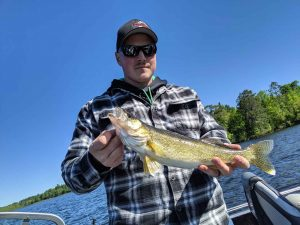 Mitchell with a Walleye